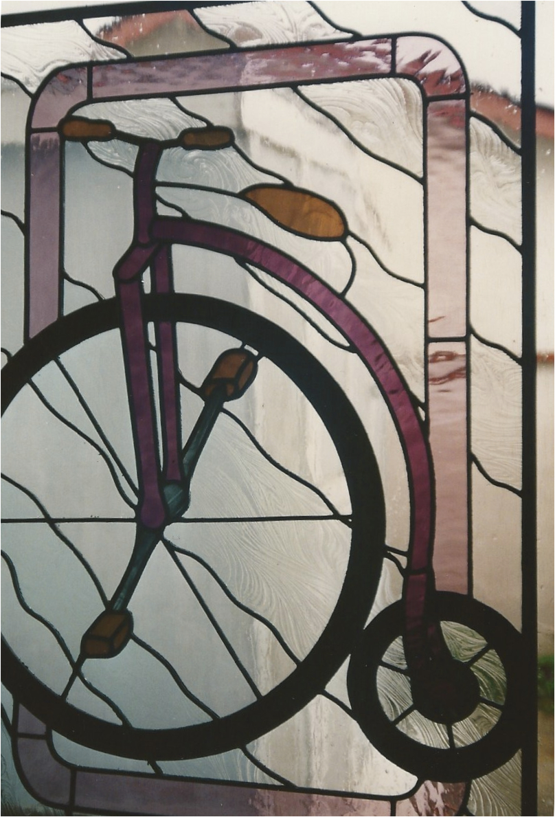 14.antique.bike.stained.glass