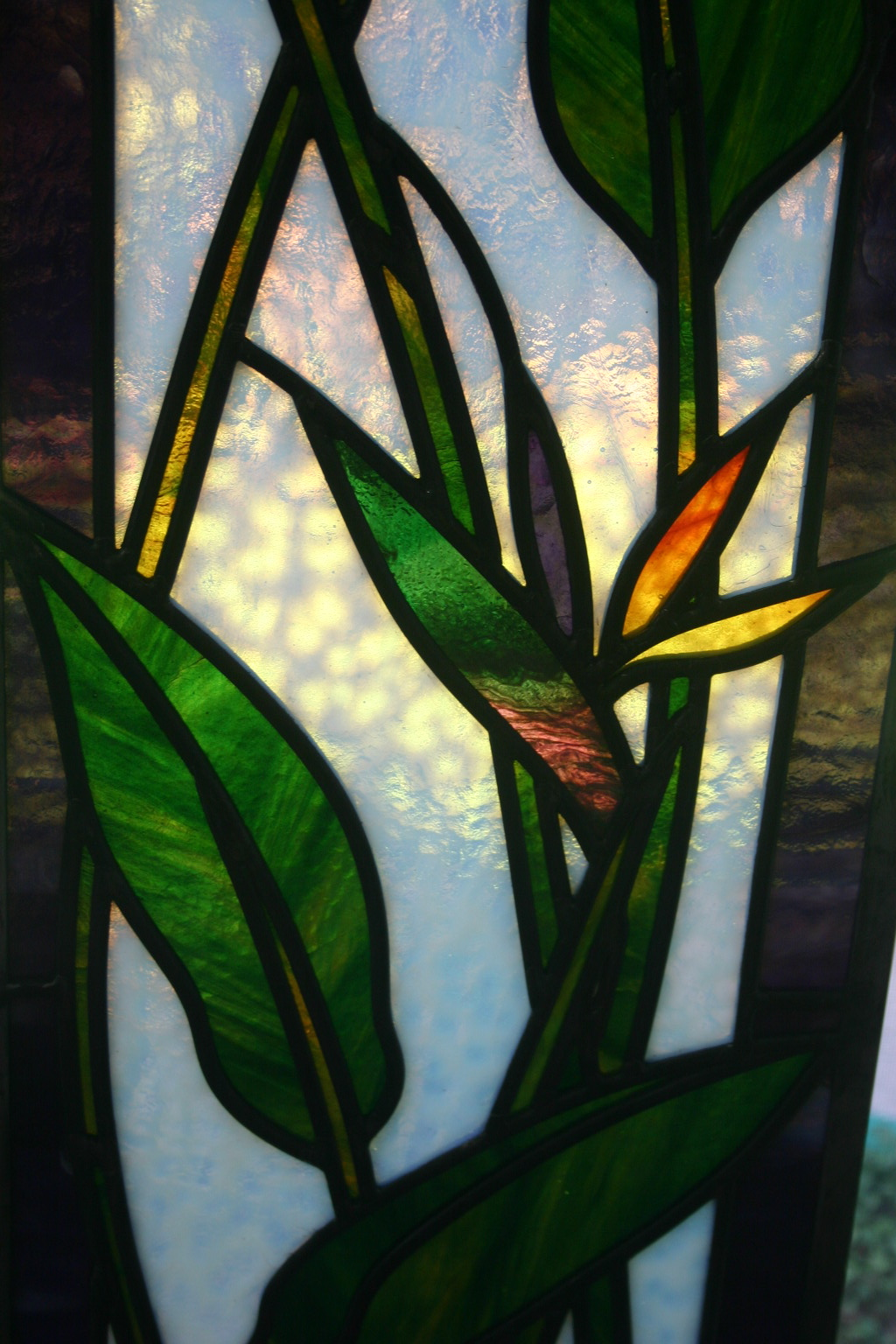 16.bird.of.paradise.stained.glass