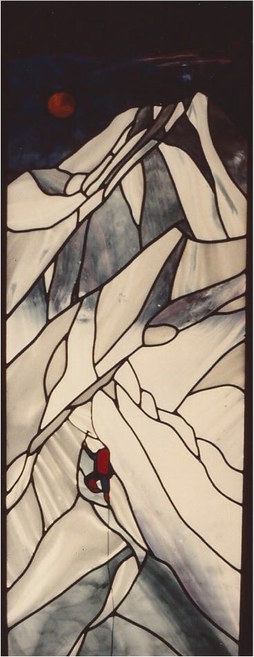 20.mountain.climber.stained.glass