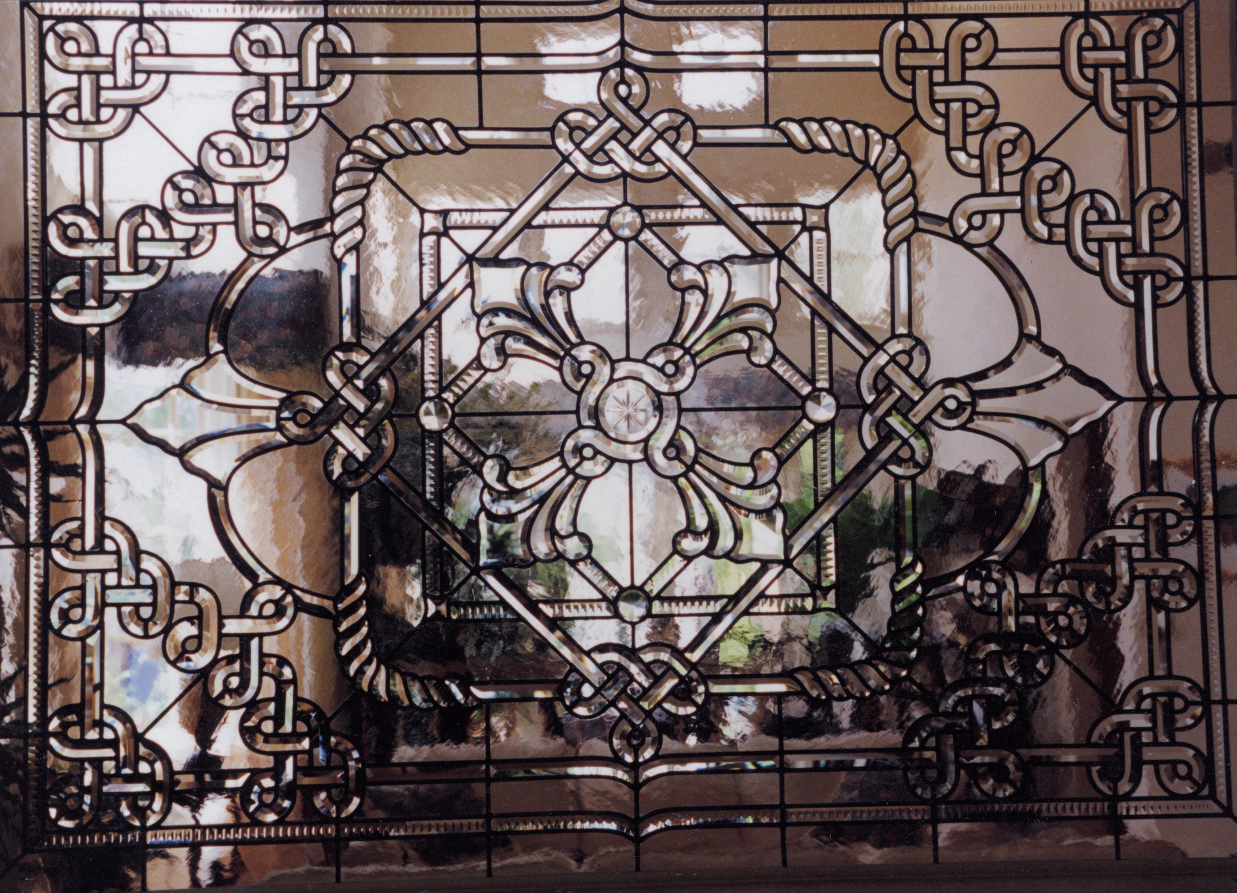 beveled glass  5.ornate.room.divider